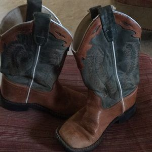 Other - Cavender's Old West Kids Tan w Brown Leather Boots